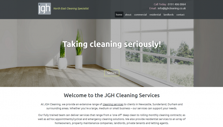 JGH Cleaning Website